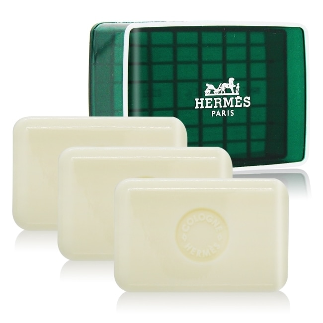 HERMES 愛馬仕 D'Orange Verte 橘綠之泉香皂(50g)X3-國際航空版