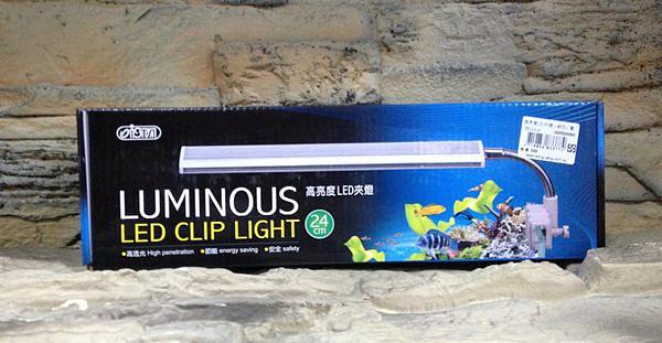 【西高地水族坊】台灣ISTA伊士達 高亮度LED夾燈 白燈 24cm 銀河色