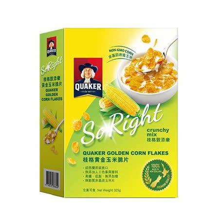桂格穀添樂黃金玉米脆片325g