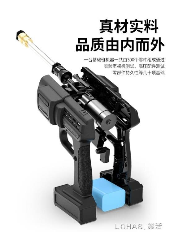高壓洗車機無線鋰電池便攜式水槍充電12V24V家用水泵機清洗神器【免運】