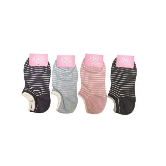 舒適條紋女踝襪2入【顏色隨機出貨】