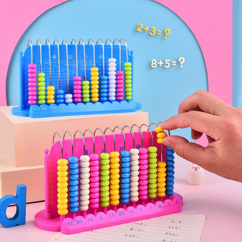 算珠 兒童計數器數學教具兒童園女12檔小學早教學具盒小學生算盤珠心算『XY20616』【儿童节礼物】