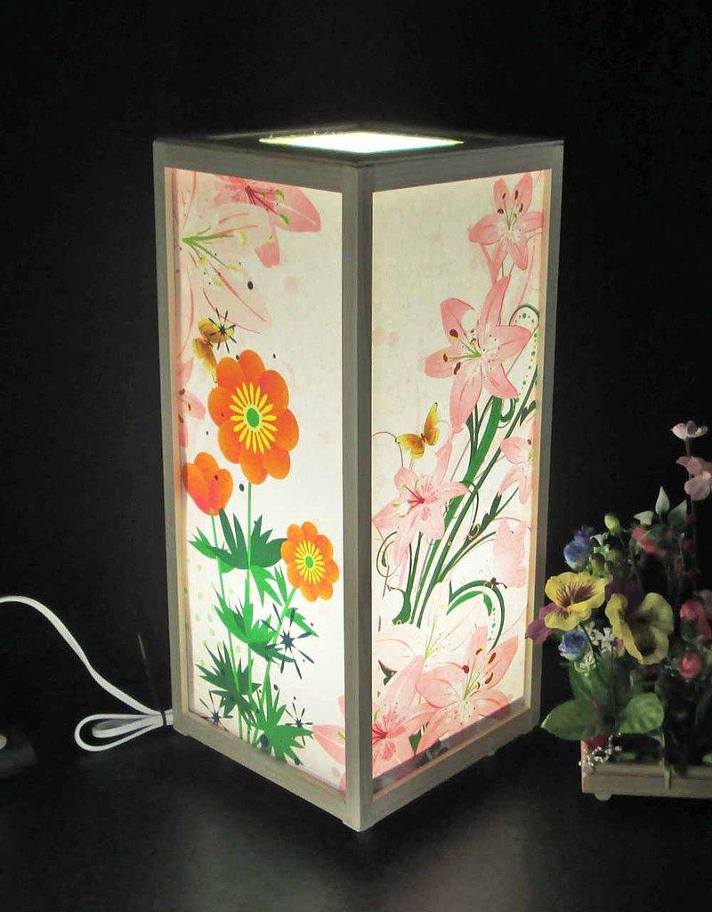 非縫製花瓣的低語LED,白色柏木框架結構神秘的光芒!