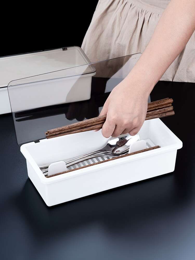 onlycook 家用筷子盒瀝水筷架 廚房塑料筷子收納盒餐具置物架筷盒