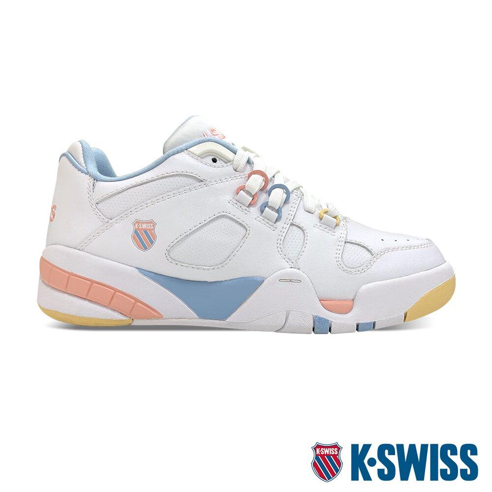 K-SWISS Caprina 復古老爹鞋-女-白/粉彩