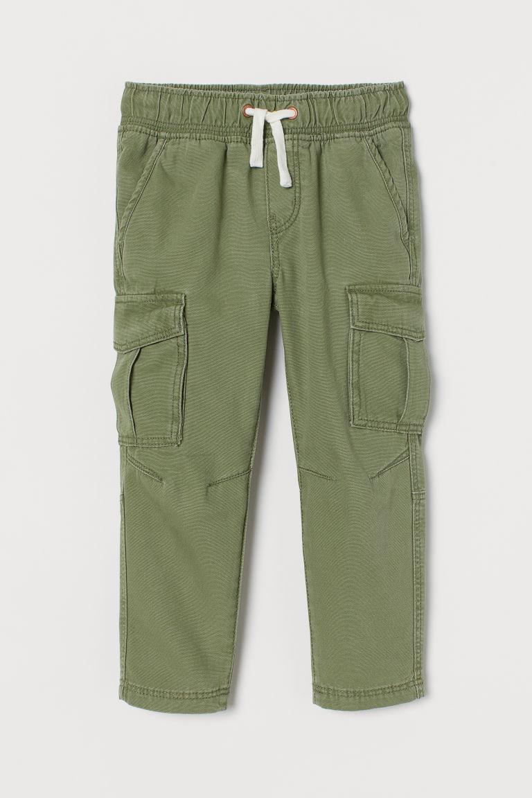 H & M - 休閒剪裁工作慢跑褲 - 綠色
