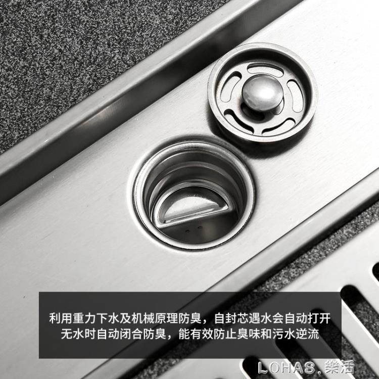 304不銹鋼加長加厚防臭地漏大排量長條形淋浴房衛生間長方型浴室【免運】
