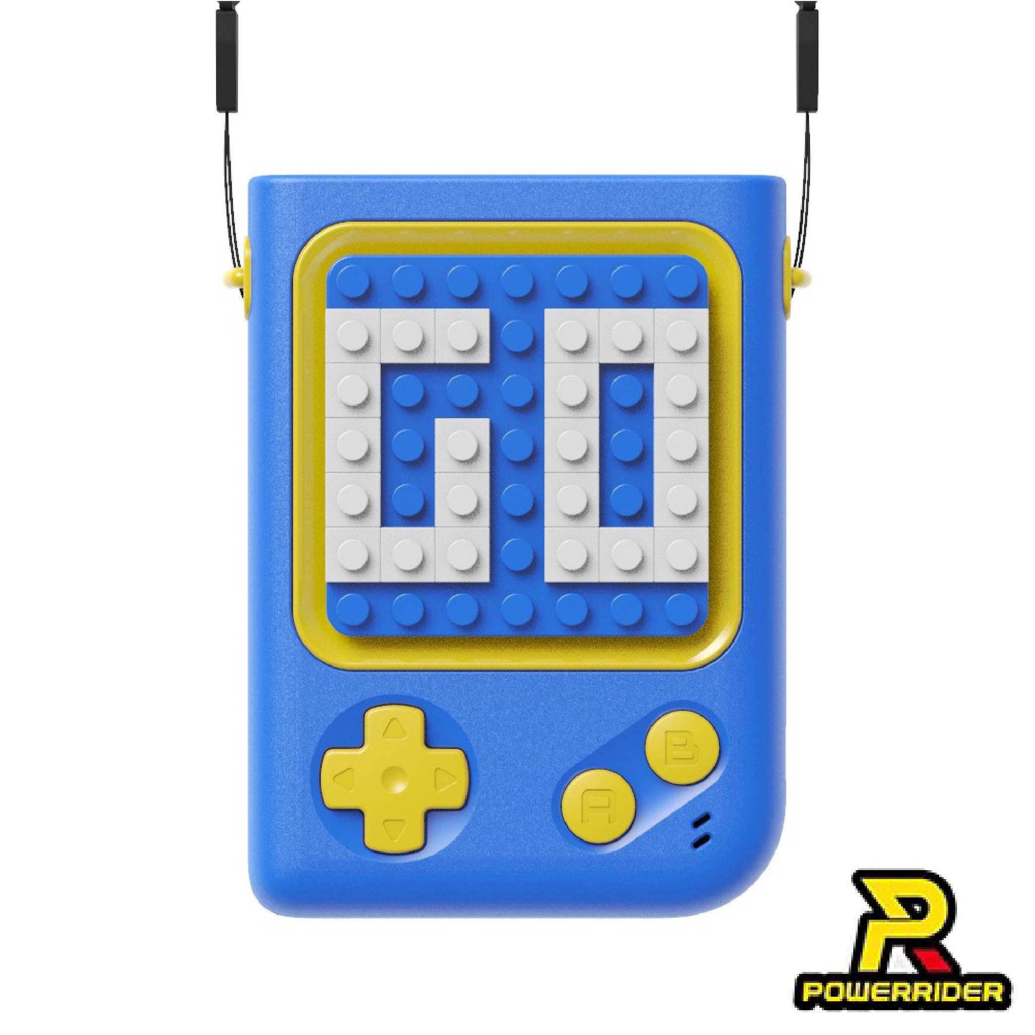 【樂酷】遊戲多功能USB積木風扇-藍(掛脖、手持、桌面用)