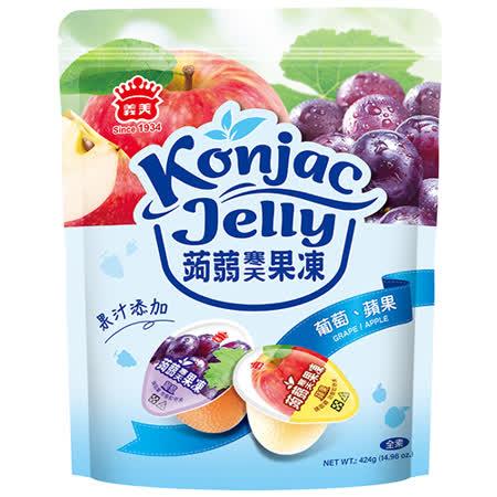 義美蒟蒻寒天果凍葡萄+蘋果424g