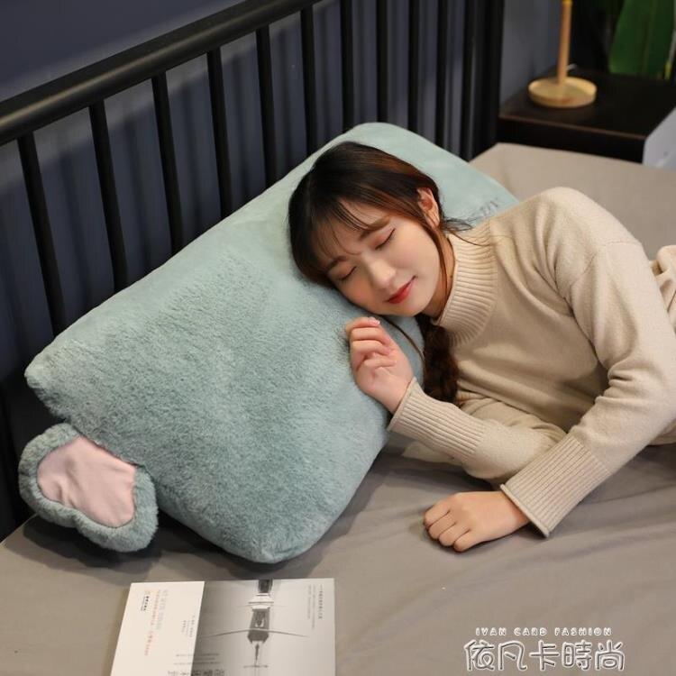 可拆洗學生宿舍單人枕抱枕長條枕床上抱睡覺枕頭靠枕床頭靠墊雙人快速出貨