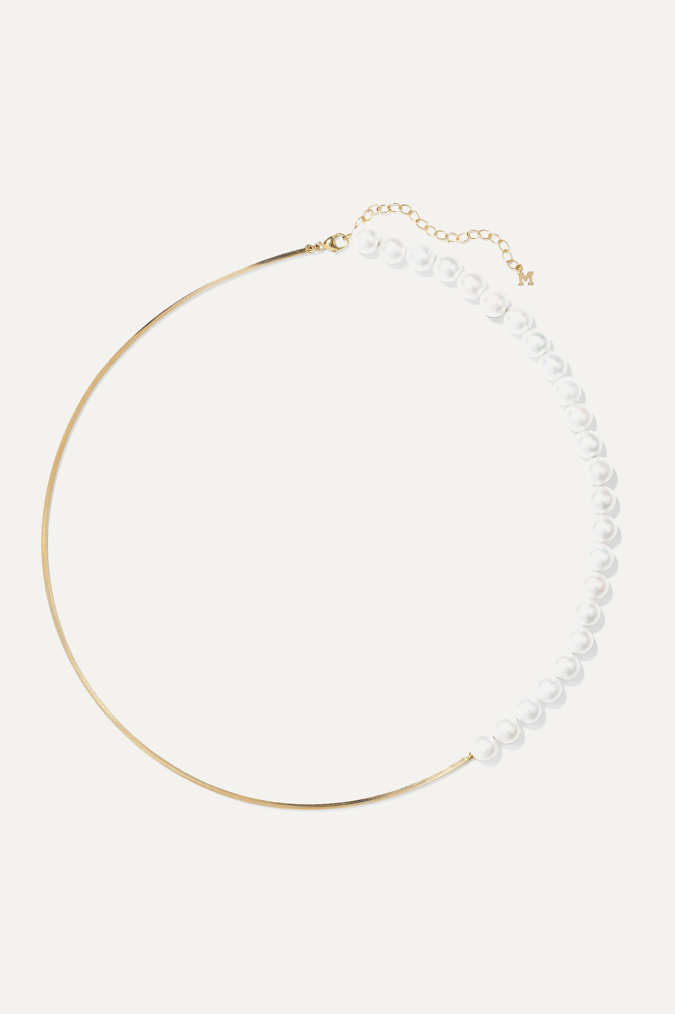 MATEO - 14-karat Gold Pearl Choker - one size