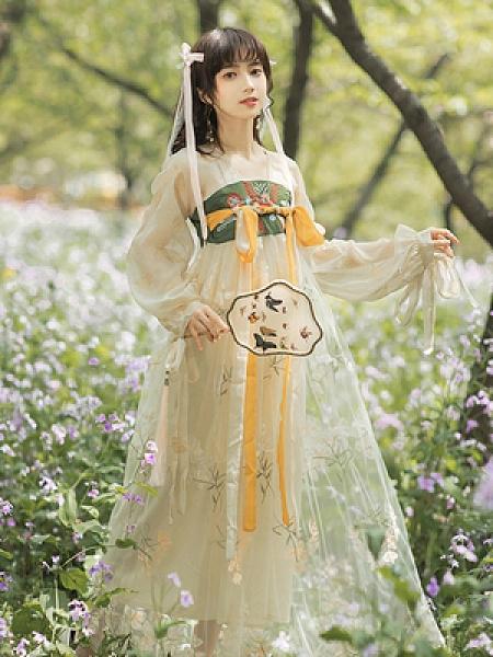 古風漢元素~135 漢服中國風連身裙漢元素刺繡連身裙6825S205胖妞衣櫥