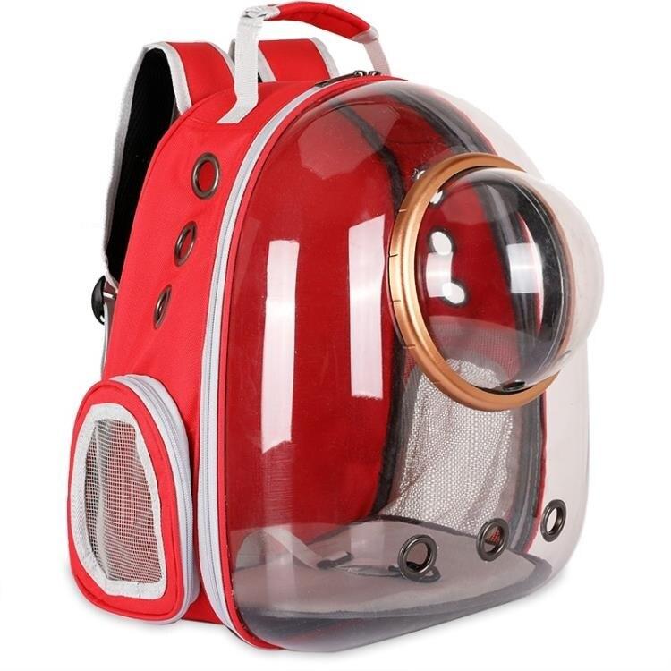 時尚透明太空艙寵物背包 貓咪狗狗透氣雙肩包 寵物出行包航空箱潮科炫
