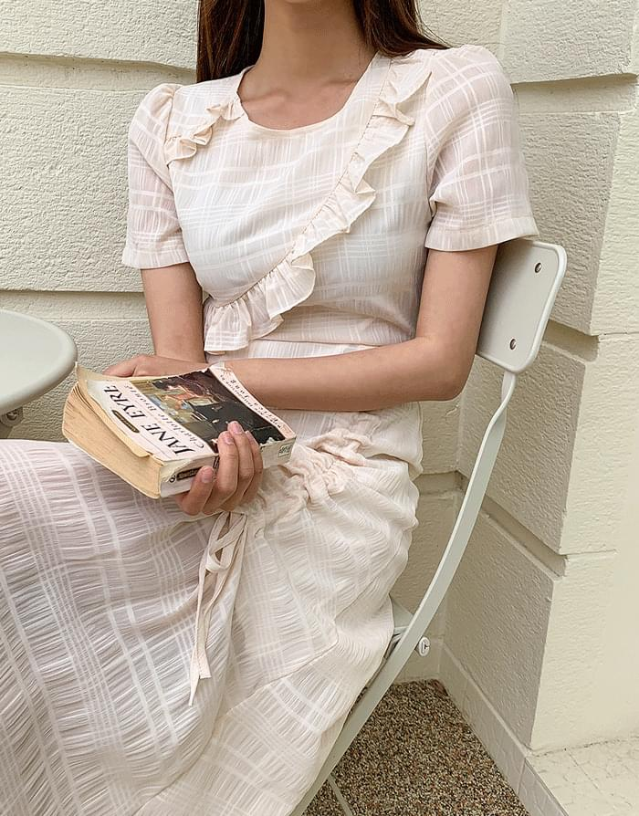 韓國空運 - Swell Shirring Dress 長洋裝