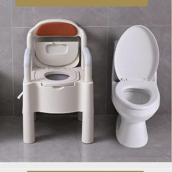 老人坐便器 家用老人坐便器可移動馬桶老年殘疾人大便椅成人孕婦室內痰盂便盆