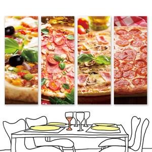 【24mama 掛畫】單聯式 油畫布 無框畫 30x80cm-披薩油畫布無時鐘披薩01