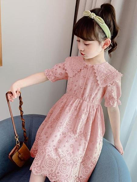 兒童洋裝 女童連身裙夏裝2021新款兒童裝小女孩夏季裙子洋氣時尚超仙公主裙 童趣屋