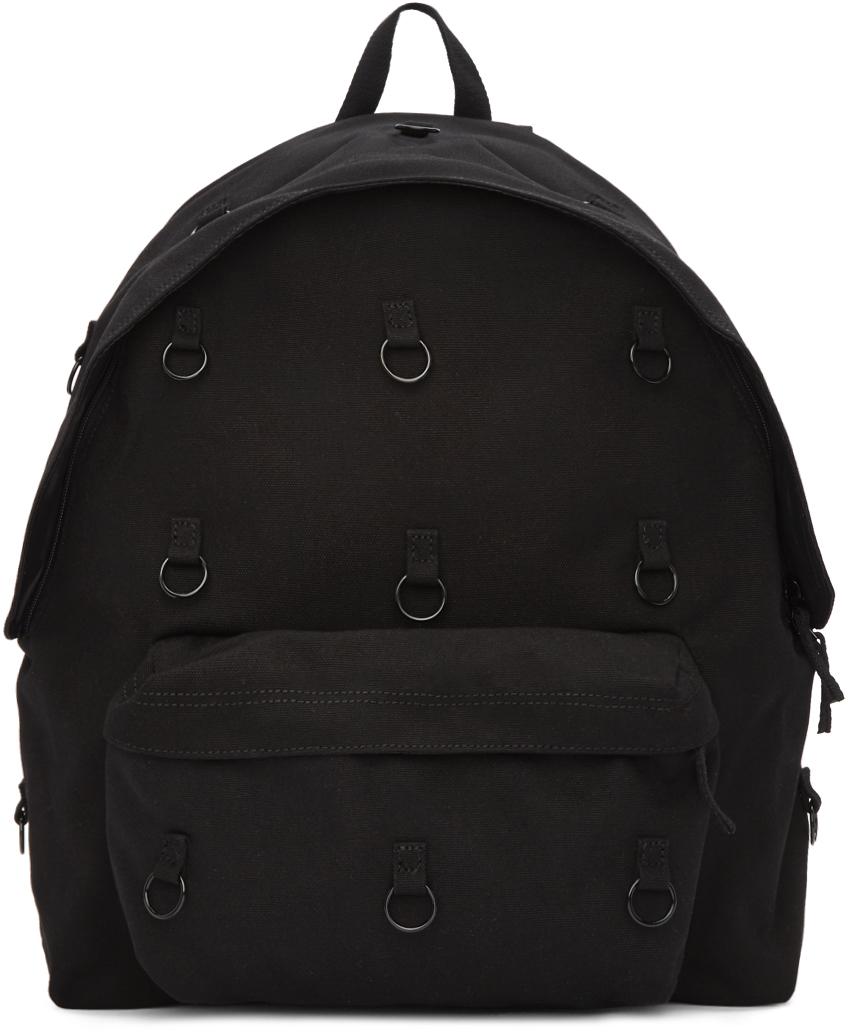 Raf Simons 黑色 Eastpak 联名环饰软垫双肩包