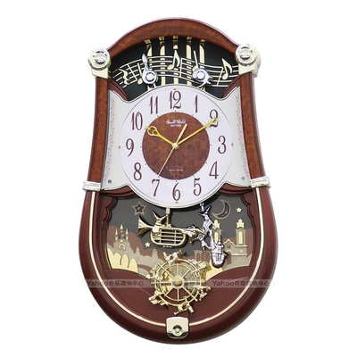 RHYTHM日本麗聲 夢幻精靈演奏會整點報時音樂掛鐘/49cm