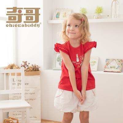 奇哥 小草莓比得造型袖上衣-紅 (2-4歲)