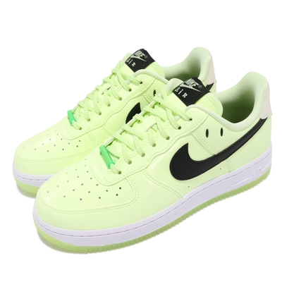 Nike 休閒鞋 Air Force 1 07 LX 女鞋 經典款 AF1 夜光 簡約 球鞋 穿搭 綠 白 CT3228701