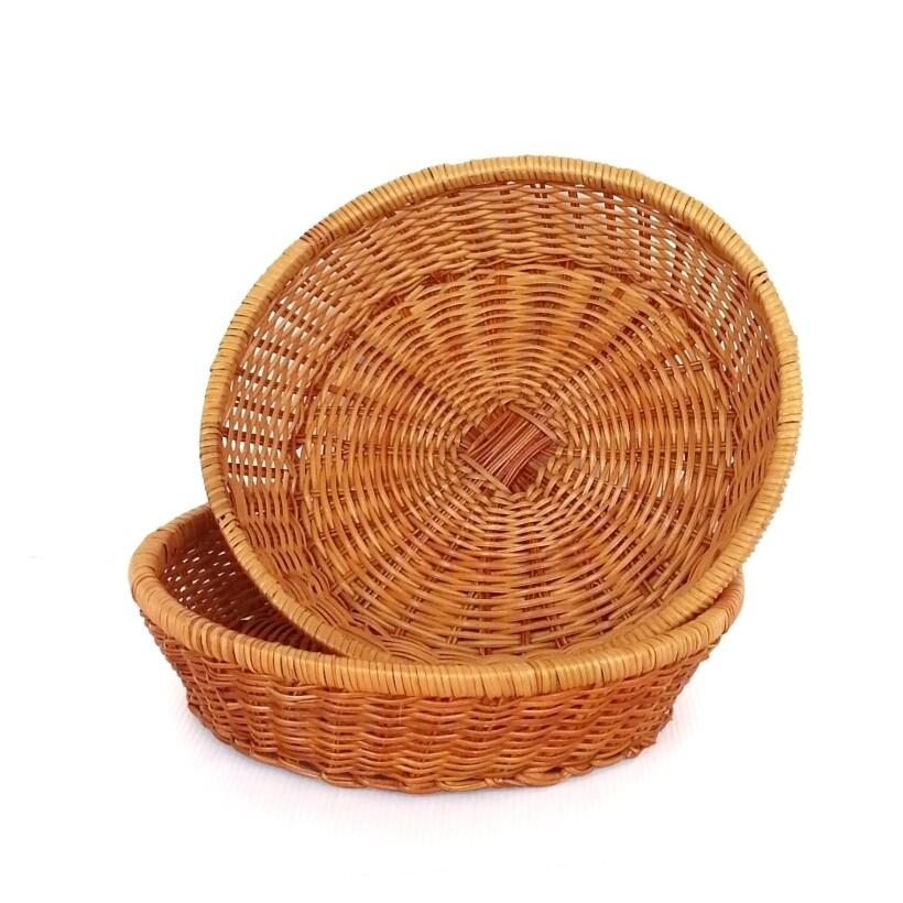 decobox 普羅旺斯圓型收納盤(30公分) (雜物籃.神桌拜拜水果盤..麵包盤.肉粽籃)