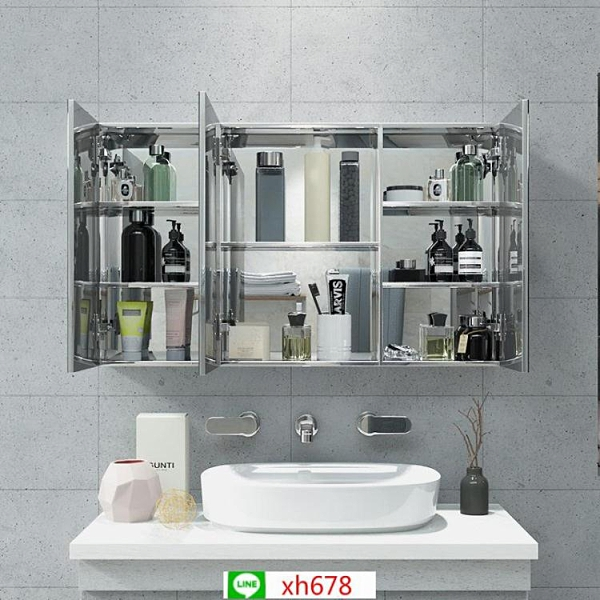 衛生間鏡柜廠家定制批發浴室鏡柜單獨浴室柜衛浴柜不銹鋼鏡柜代發【頁面價格是訂金價格】