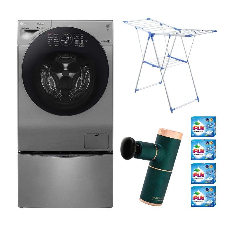 【3大豪禮加碼送】LG樂金 WiFi TWINWash 雙能洗極窄美型版(蒸洗脫烘) 星辰銀 / 12公斤+2公斤洗衣容量 WD-S12GV+WT-D200HV 時段限定