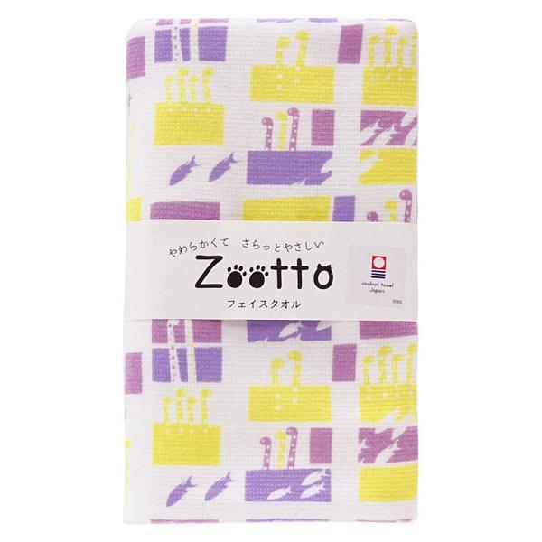 【日本製】【Zootto】今治毛巾 Imabari Towel 紗布 洗臉毛巾 花園鰻(一組:10個) SD-2319-10 - 日本製