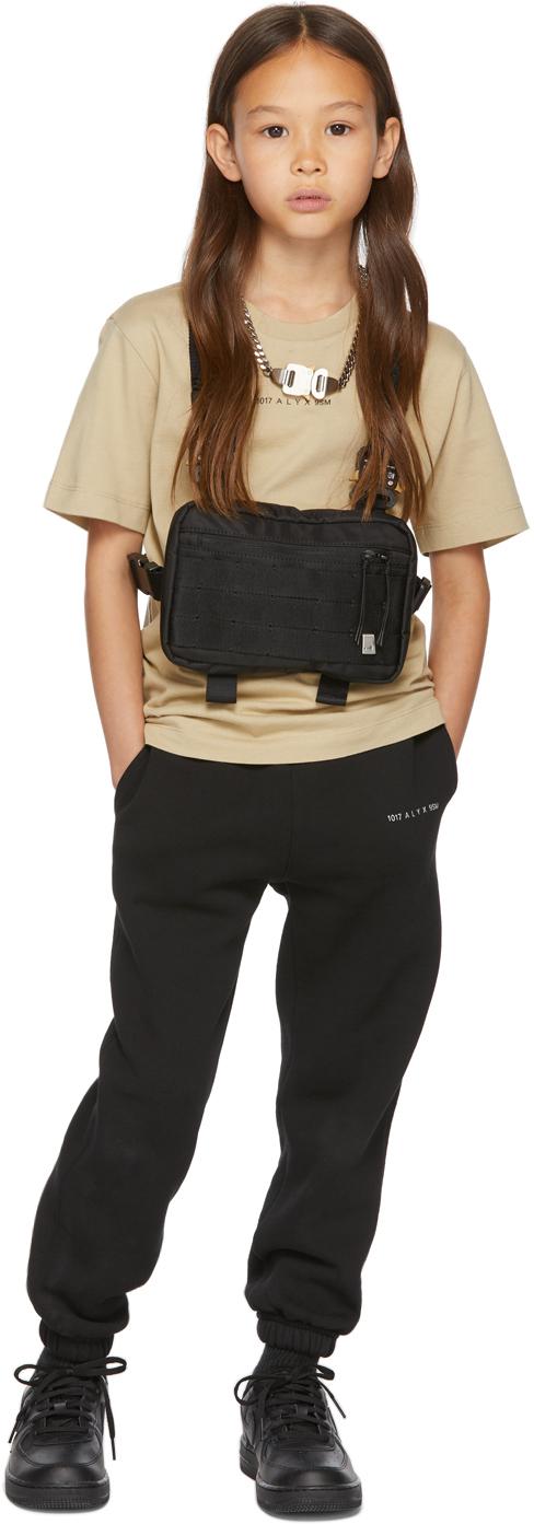 1017 ALYX 9SM SSENSE 独家发售黑色 Summer Nights 儿童运动裤