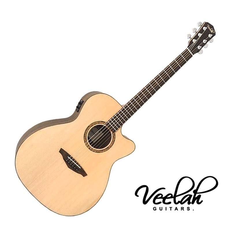 Veelah V3 OMCE 40吋 民謠吉他 雲杉單板 - 【他,在旅行】
