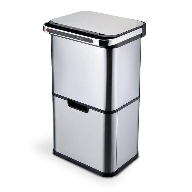 不鏽鋼除臭四格分類感應垃圾桶ELPH8889