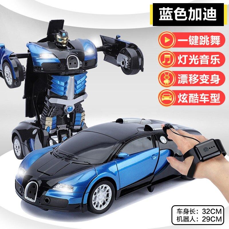 遥控車 手勢感應變形遙控汽車充電四驅賽車金剛機器人兒童男孩超大玩具車 bw2556【兒童節禮物】