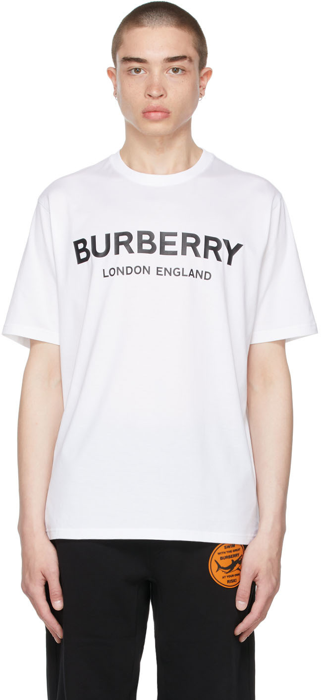 Burberry 黑色徽标贴花衬衫