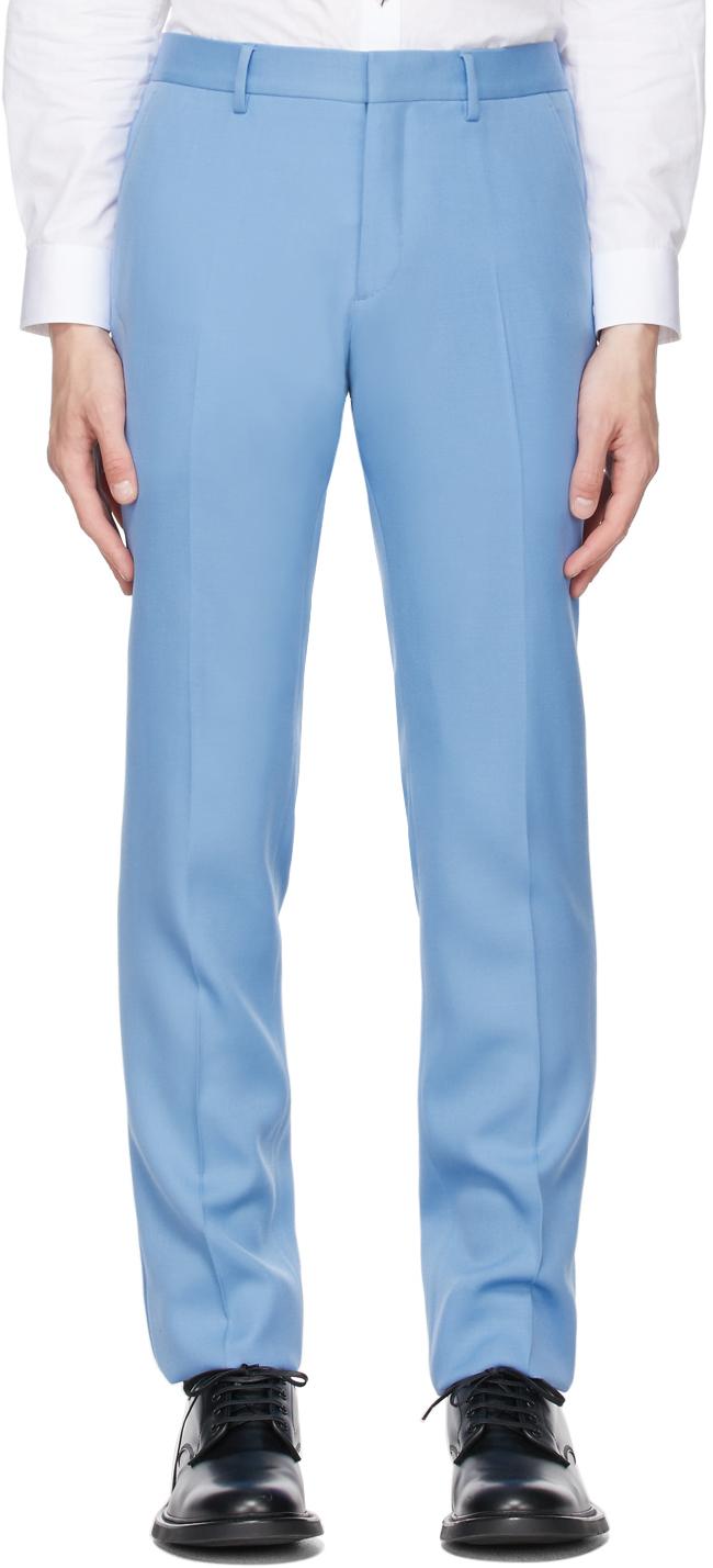 Burberry 蓝色 Classic Fit Tailored 羊毛长裤