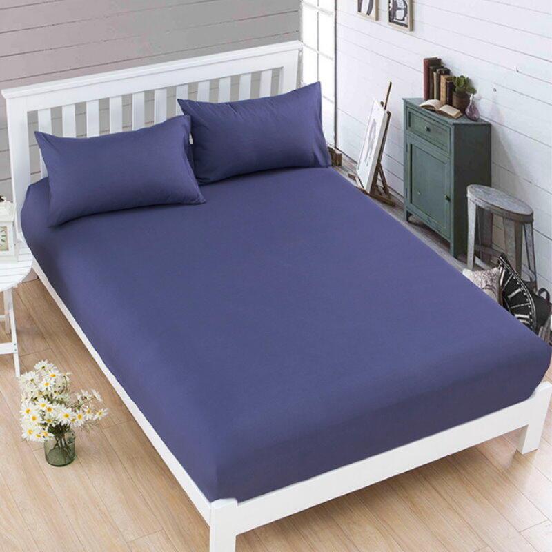 素色床包 床單 雙人床 磨毛純色床罩保護套 床墊套 防塵罩 床套 整圈環繞鬆緊帶【GT320】123便利屋