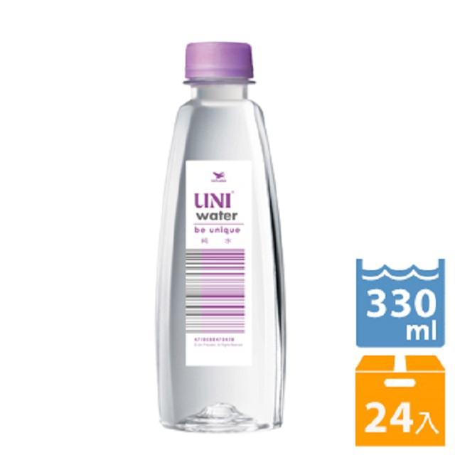 統一《UNI water》純水330ml (24入/箱)