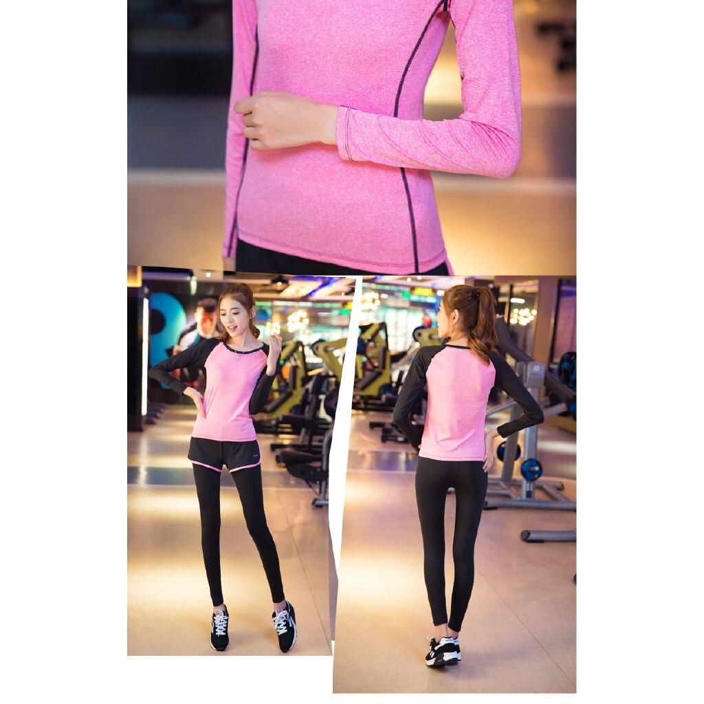 阿妮絲 瑜伽服長袖上衣 運動衣上裝跑步顯瘦健身服速干衣女 上衣