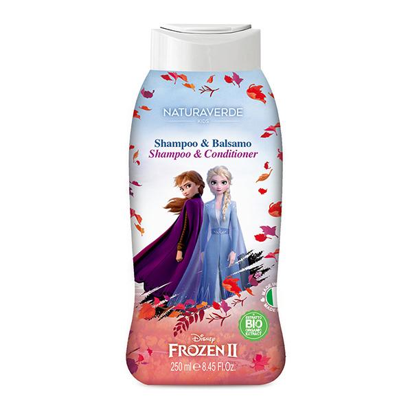 義大利 Disney Frozen II(泡泡浴 / 潔膚露 / 雙效洗髮精)-250ml(淡雅白麝香)