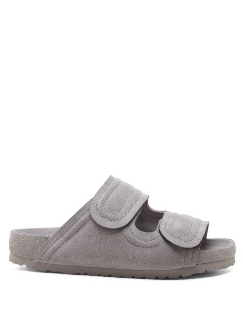Birkenstock X Toogood - Mud Larker Suede Sandals - Mens - Light Grey