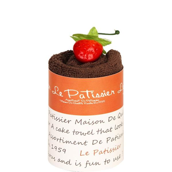 【日本製】【Le patissier】日本製 今治毛巾 戚風蛋糕造型 咖啡色(一組:10個) SD-3987-10 - 日本製