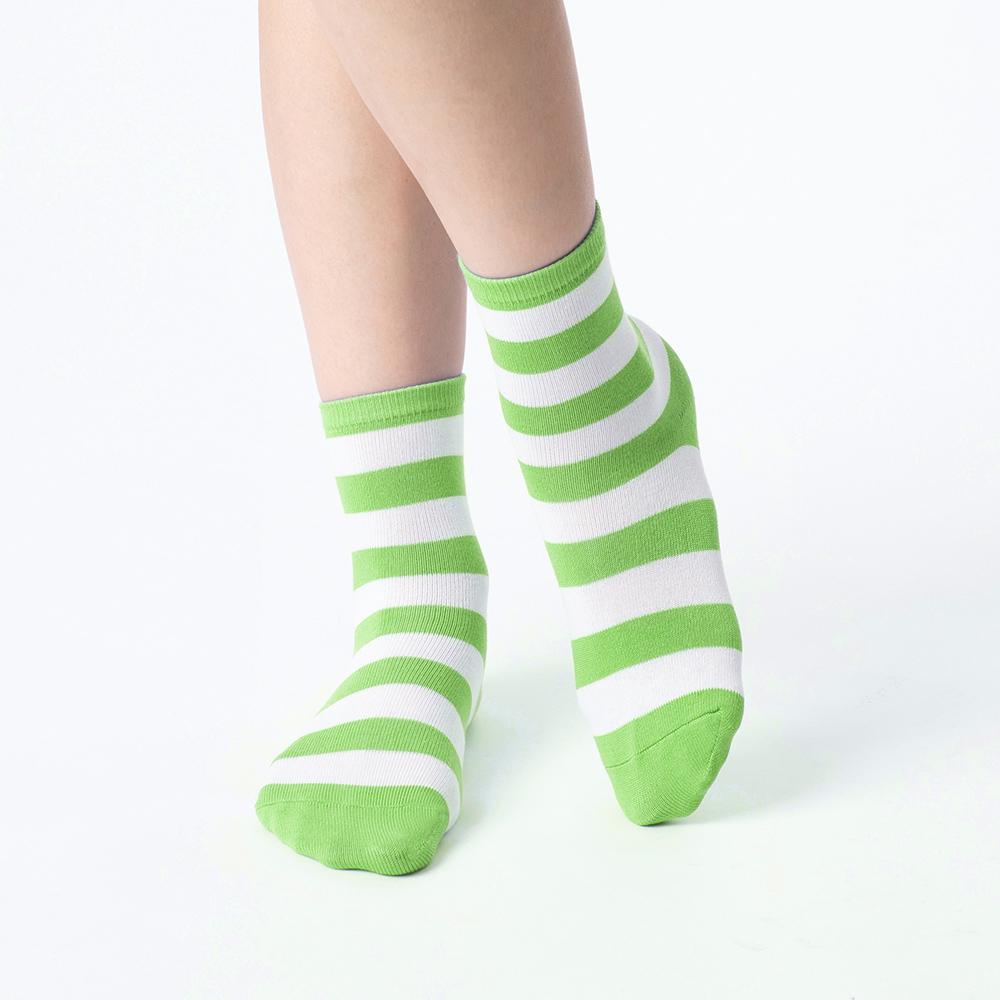 好朋友進行式條紋襪-蘋果綠(商品編號:S0602354S)