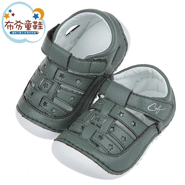 《布布童鞋》CONNIFE星星森林綠色寶寶涼鞋(12.5~15公分) [ Q1B550C ]