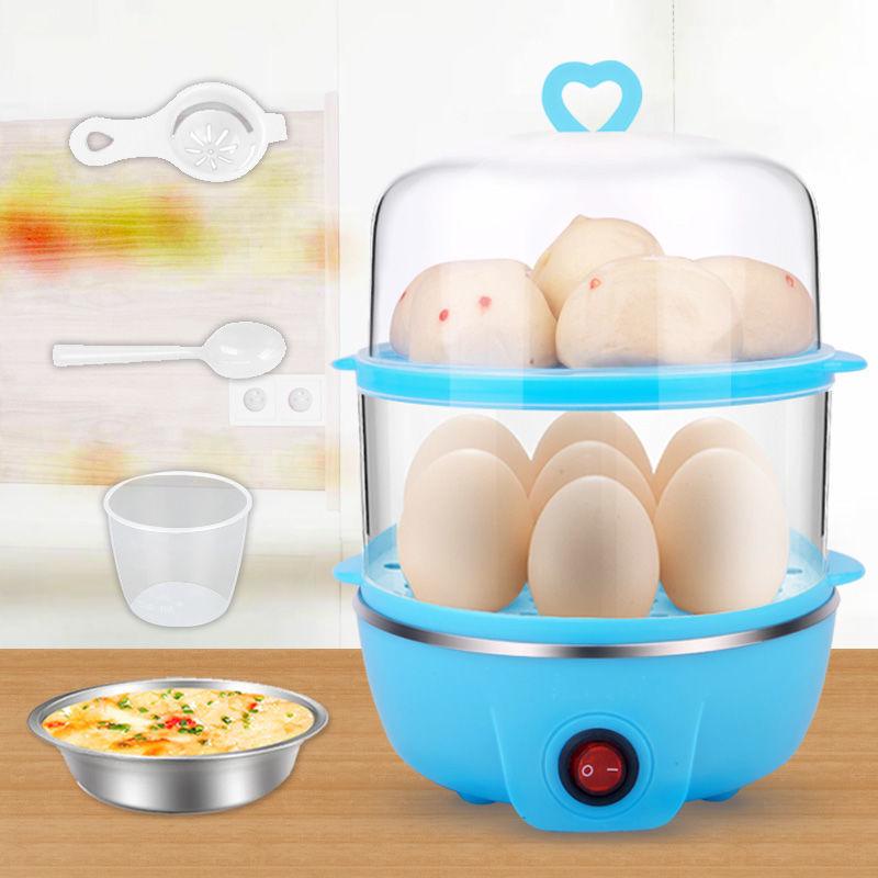 煮蛋器 克美帝雙層蒸煮蛋器蒸蛋羹 面食 1-14個蛋自動斷電保護