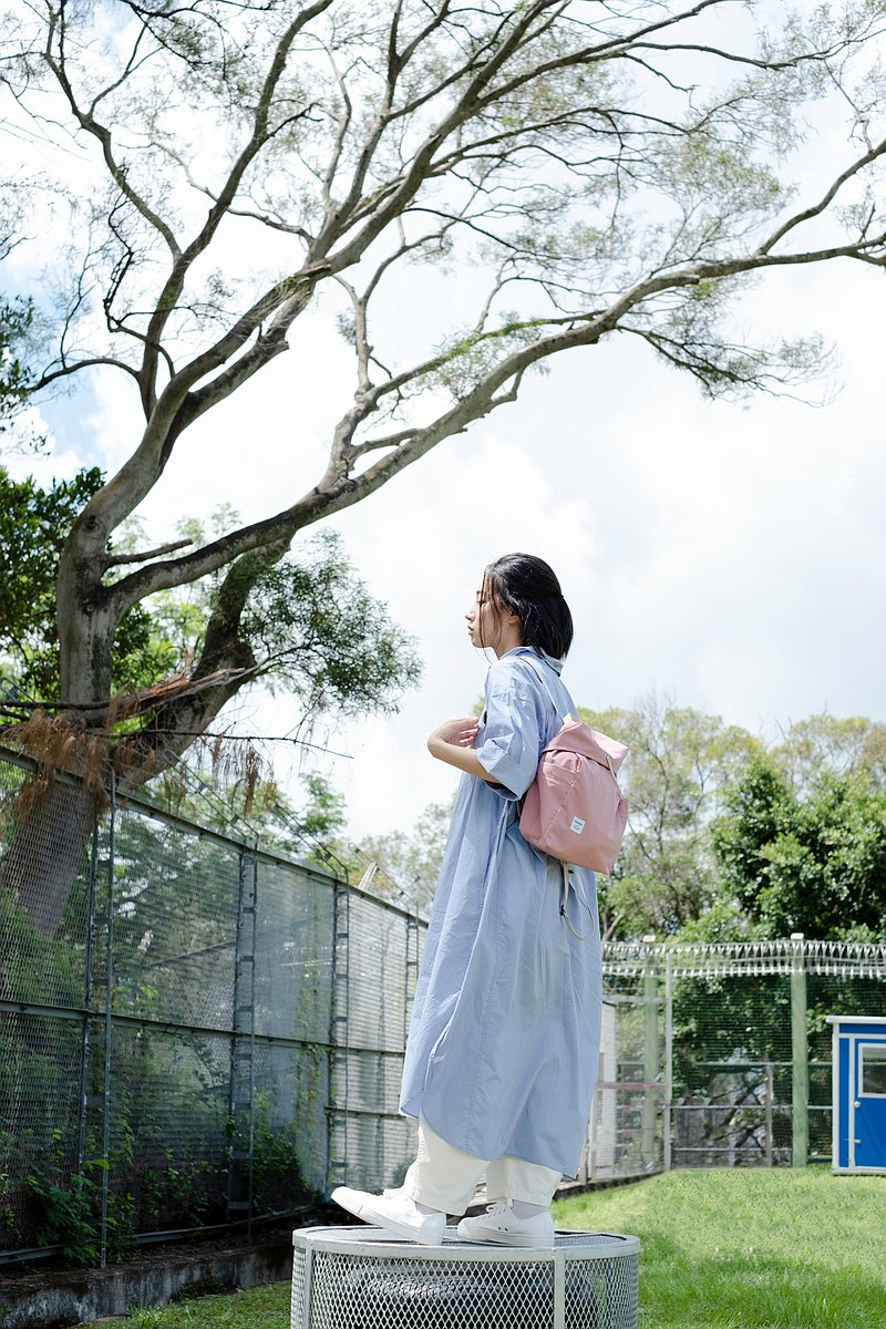 hellolulu JESSE 繩扣休閒後背包(M) - 淡粉紅