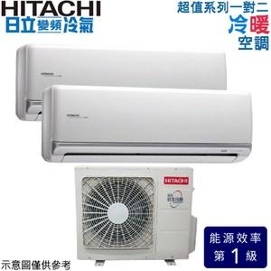 【日立】超值一對二變頻冷暖冷氣RAM-63NL/36+36NJK