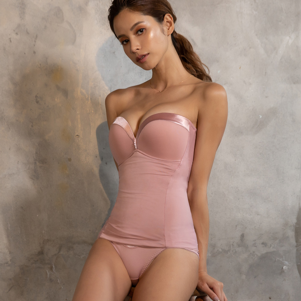S曲羨浮華特仕版-成套平口馬甲塑身衣 (S-EL) 乾燥玫瑰※特惠商品恕不退貨