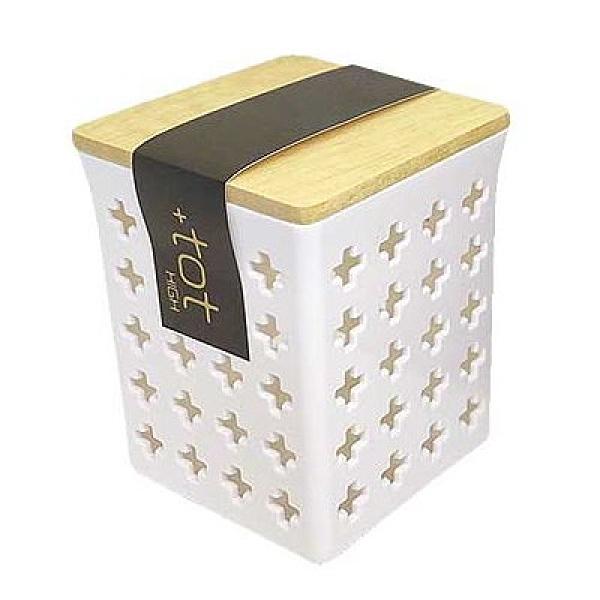 asdfkitty*小久保工業所 木蓋透氣收納盒-白色-大的-日本製