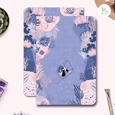 漁夫原創 iPad Pro 10.5/Air 3 平板保護殼 紫珊瑚(三折式/軟殼/內置筆槽)
