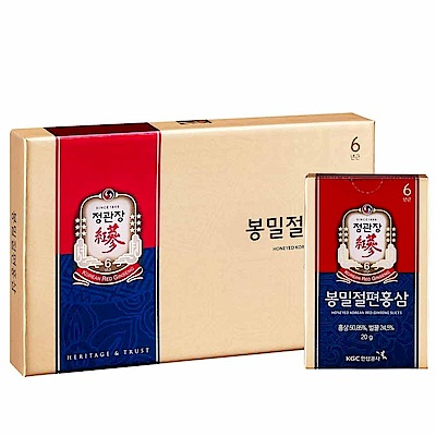 限時滿5千送8%超贈點【正官庄】蜂蜜切片(20g*6入) /盒